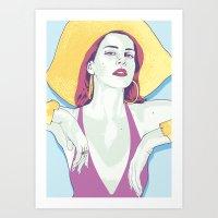 lana del rey Art Prints featuring Del Rey, Lana by protski