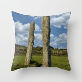 Standing stones portrait Throw Pillow