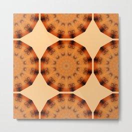 Rust-Art / mandala-style-rust Metal Print