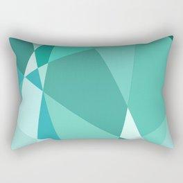 Minty Jagged Edges Rectangular Pillow