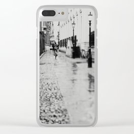 in the streets of Cambridge ... Clear iPhone Case