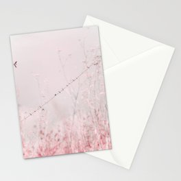 Birds on a wire II Stationery Cards