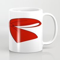 bow Mugs featuring bow by  MuDi