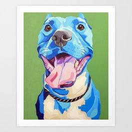 Ziggy the Pit Bull Terrier Art Print