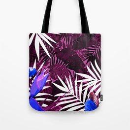 Bold Pink Tropical Paradise Design Tote Bag