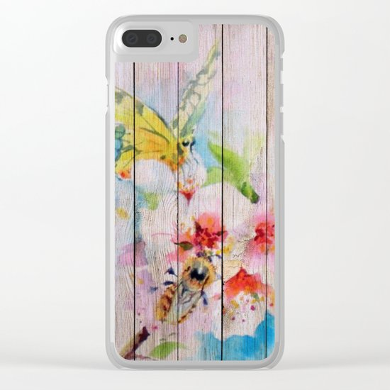 Spring on Wood 01 Clear iPhone Case