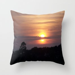 Sunset in Hilton Head Throw Pillow