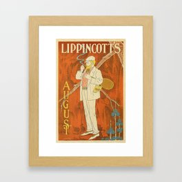 August 1895 Lippincott's magazine Framed Art Print