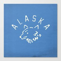 alaska Canvas Prints featuring Alaska by Roland Lefox