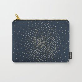Dots Illusion - Gold and Navy Blue Carry-All Pouch