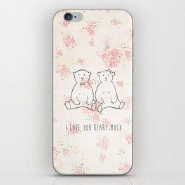 I love you beary much iPhone Skin