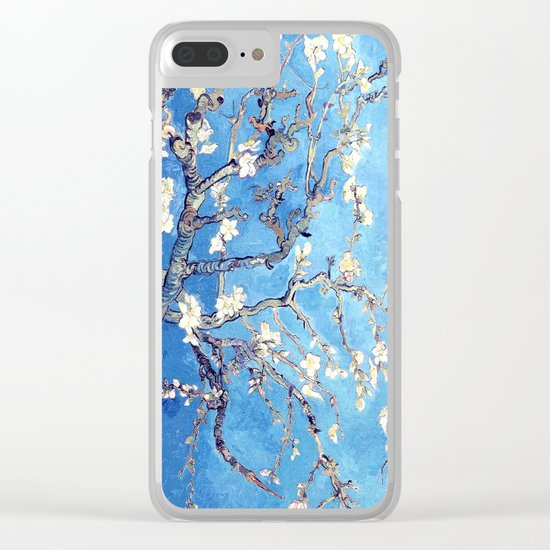 Vincent Van Gogh Almond Blossoms. Sky Blue Clear iPhone Case