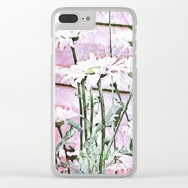 All For The Love of Daisies Clear iPhone Case