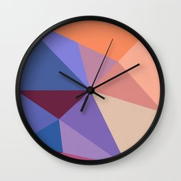 Abstract Geometry 01 Wall Clock