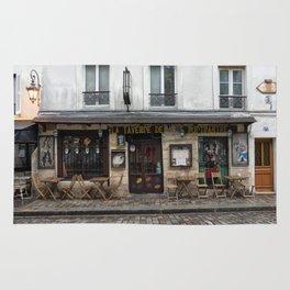 Cafe in Monmartre Paris Rug