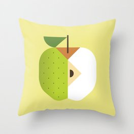 Fruit: Apple Golden Delicious Throw Pillow