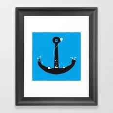 Adventure Is My Anchor Framed Art Print