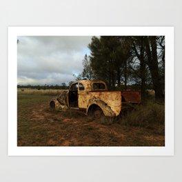 Old Ute Rusting Art Print