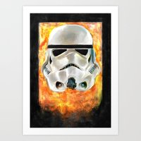 stormtrooper Art Prints featuring Stormtrooper by Mishel Robinadeh