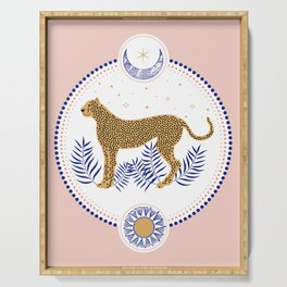 Wild Cheetah and the Moon 2 Serving Tray