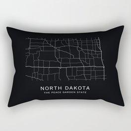 North Dakota State Road Map Rectangular Pillow