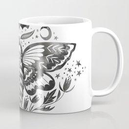 Watercolor Skull Moth Coffee Mug