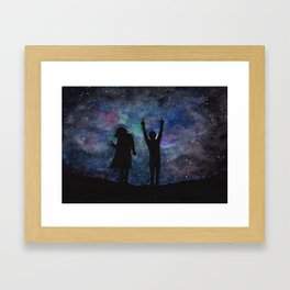 Look at the stars... (Harry Styles and Louis Tomlinson) Framed Art Print