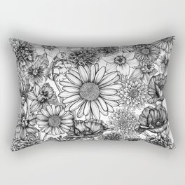 Family of Flowers Rectangular Pillow