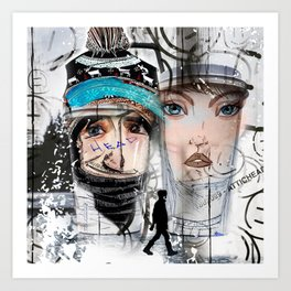 CoffeeHeads Winter Wonderland (I'll have a tall Chill Latte, extra hot, no whip)... Art Print