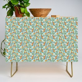 Oak Tree with Squirrels in Summer Credenza