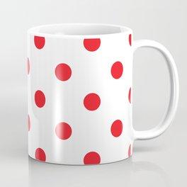 Polka dot fabric Retro vector background or pattern Coffee Mug