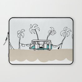 Surfer Van - Surf Art - Gone Surfing Laptop Sleeve