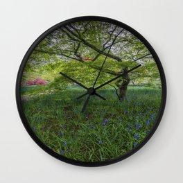 Bluebell Meadow Wall Clock