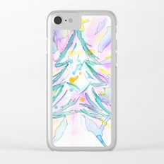 Xmas Tree Clear iPhone Case