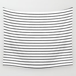white lines, black and white stripes - striped design Wall Tapestry