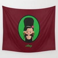 amy hamilton Wall Tapestries featuring Amy by Juliana Motzko