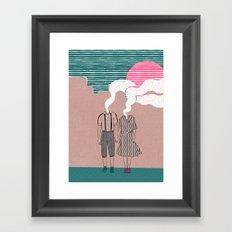 let's vaporize toghether Framed Art Print