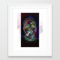 chance the rapper Framed Art Prints featuring Chance the Rapper by Zach Hoskin Art + Design