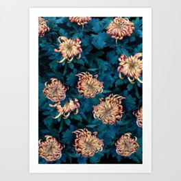 Сhrysanthemums Art Print