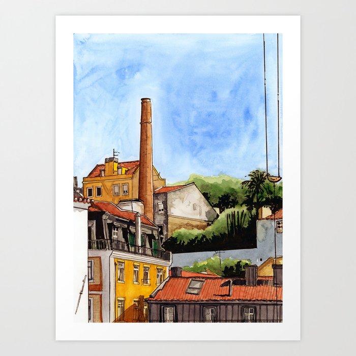 Alfama Buildings Art Print