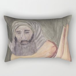 Reproduction of a Section of The Trial By Fire Fresco by Giotto Rectangular Pillow