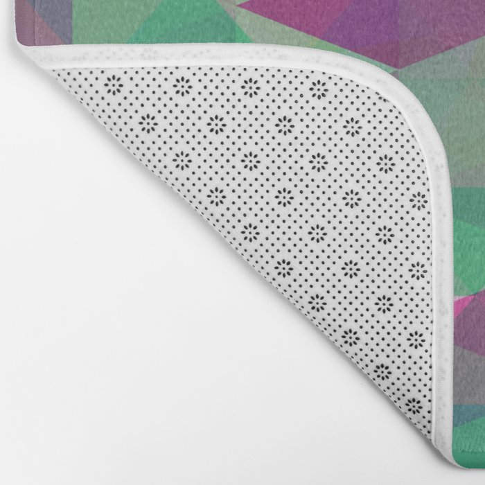 Pastel Triangles Pattern - Abstract, geometric, pastel coloured artwork Bath Mat