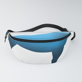 Horse - Two - Blue Fanny Pack