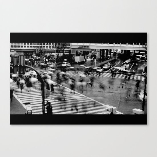 Shibuya Crossing Motion Canvas Print