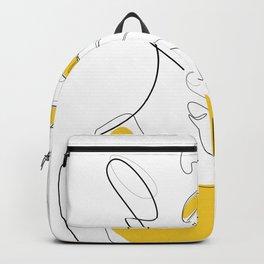 Bold Mustard Lip Backpack
