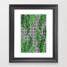 Tropical leaf pattern Framed Art Print