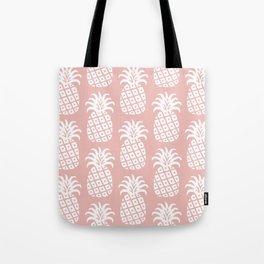 Retro Mid Century Modern Pineapple Pattern Dusty Rose 2 Tote Bag