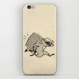 THE  WHISKEY SMUGGLER - vintage cartoon 80's iPhone Skin