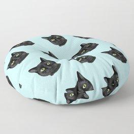 Black Cat Appreciation Day Floor Pillow