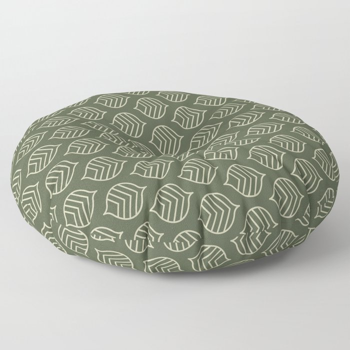 Olive Scales Floor Pillow